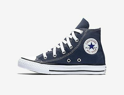 Kids Girls Converse (CONVERSE All Star Blue Canvas Hi Top Shoes Chuck Taylor Girls Kids)