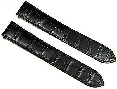 Authentic Cartier Roaster Black Alligator Leather Band 19MM JAYFSP01 - New