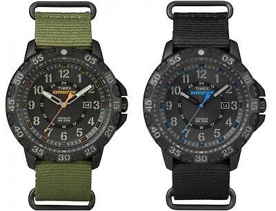 Timex Mens Expedition Gallatin Nylon Strap 24 Hour Tactical Dial Outdoor Watch