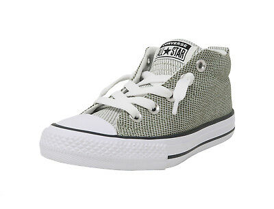 CONVERSE AS Street Mid Knit Sage Olive Green White Sneakers Kids Youths Shoes ()