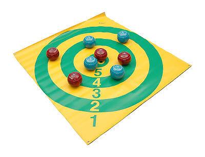 "ACCLAIM Target Diamond Bowls Scoring Game Yellow Green Design Seconds 46"" Square"