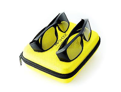 2x Hi-SHOCK® zirkular passive 3D-Brille  für 4k TV´s von Philips, Grundig, Sony