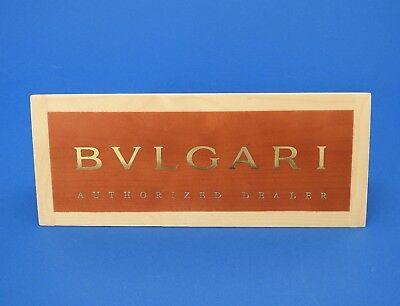 AUTHENTIC BULGARI WOOD BLOCK STORE DISPLAY NEW ()
