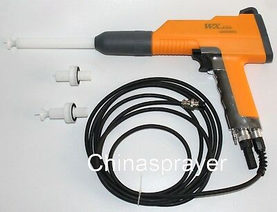 Aftermarket Wx-101 Electrostatic Powder Coating Gun 5 Hole With 3 Nozzles .