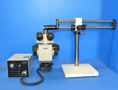 Olympus Szh 10 Stereo Microscope Boom Stand Fiber Light