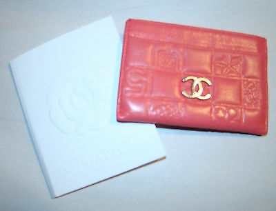 RARE pre-owned guaranteed authentic HOT PINK calfskin CHANEL credit card wallet