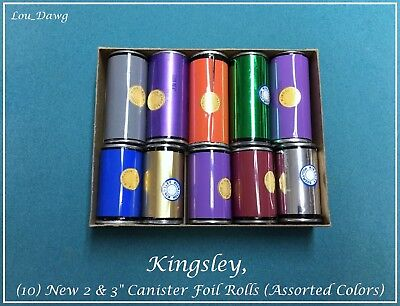 Kingsley Machine 10-new 2 3 Foil Rolls  Hot Foil Stamping Machine