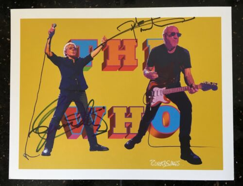 Set of 4 The Who 2017 VIP Tour Posters, Signed by Roger Daltrey & Pete Townshend