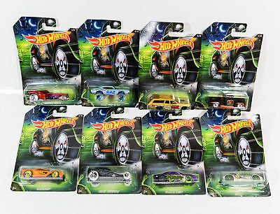 Hot Wheels Die-cast Metal Cars Happy Halloween Set of 8 Vehicles 2016 New