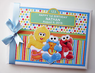 PERSONALISED KIDS TV CHARACTERS BIRTHDAY / BABY SHOWER GUEST BOOK ANY - Baby Tv Characters