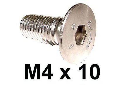 M4 x 10 Stainless Countersunk Allen Bolts - 4mm x 10mm Countersunk...