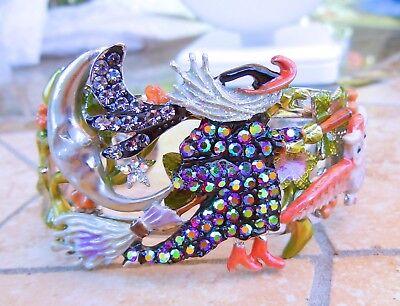 Kirks Folly Witches Brew Cuff Bracelet   Silvertone  Halloween