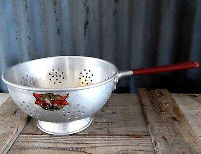 Vintage 30s 40s Aluminium Kitchen Colander Made in England - Corfield-Sigg Ltd, used for sale  Shipping to Ireland