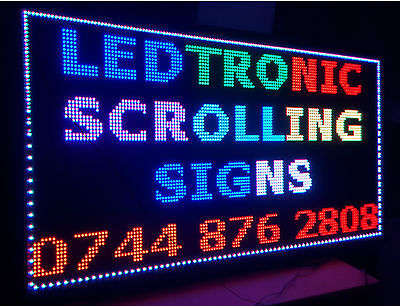 LED SCROLLING SIGN ADVERTISING DISPLAY MOVING BOARD PROGRAMABLE MULTICOLOUR P13