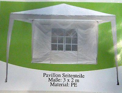 seitenteil f pavillon 2x3m mit fenster wei. Black Bedroom Furniture Sets. Home Design Ideas