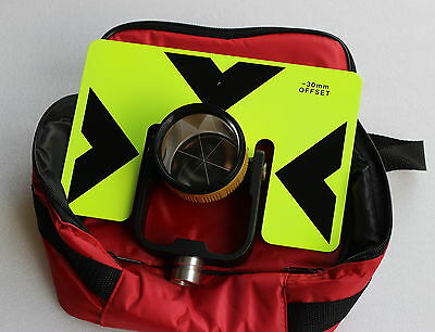 Big Metal Target Prism Wbag For Topcon Sokkia Nikon Pentax Total Station