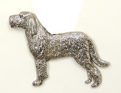 Italian Spinone (with tail) Brooch, Silver Plated