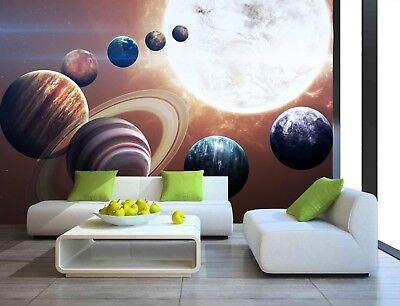 Space Stars Planets Solar System Wallpaper Mural Photo Children Kids room poster