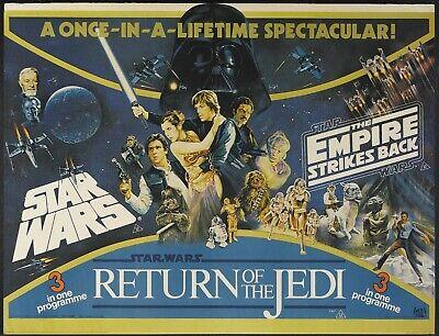 "STAR WARS trilogy repro Uk quad poster 30x40"" E,pire strikes back return jedi"