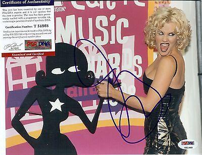 Beautiful Actress Jenny Mccarthy Autographed 8X10 Color Photo Psa Dna