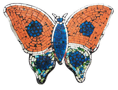 Mirrored mosaic/wood BUTTERFLY wall art plaque decoration 12