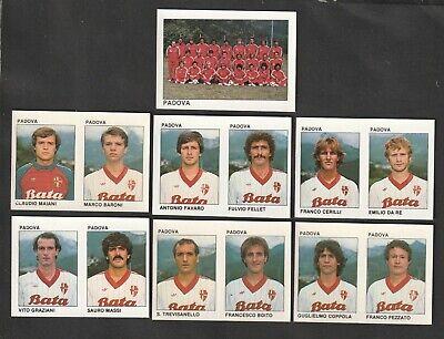 LOTTO DI 7 FIGURINE ALBUM CALCIATORI CALCIO FLASH 84 1983-84 PADOVA COMPLETA