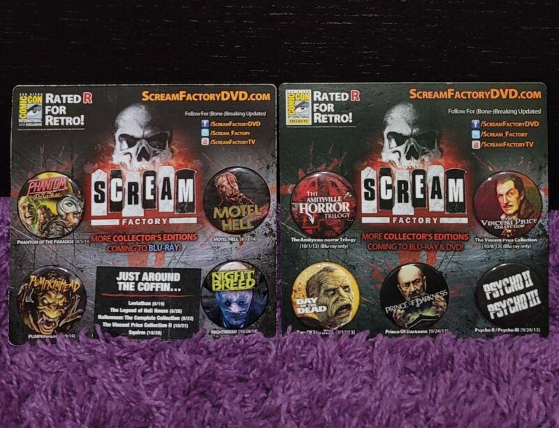 Scream Factory SDCC (2013 / 2014) Horror Pin Set