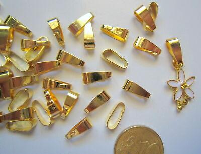 Colgador liso para colgante 10 mm X 25 UNIDADES oval baño dorado...