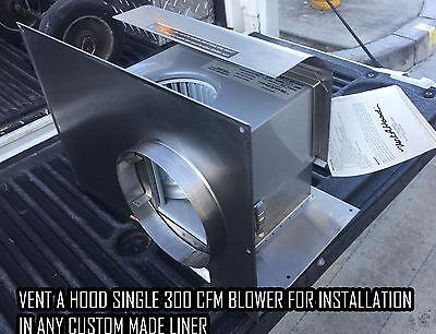 Vent A Hood B100 300 CFM Blower System For Installation In Any Custom Liner (Install Range Hood Vent)