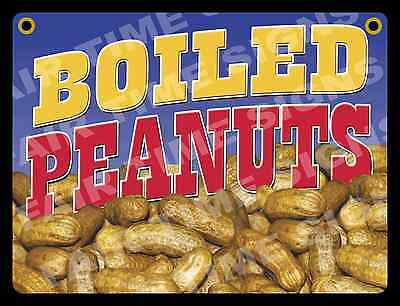 Boiled Peanuts Concession Sign - Trailer Restaurant Stand12 X 17 Pvc