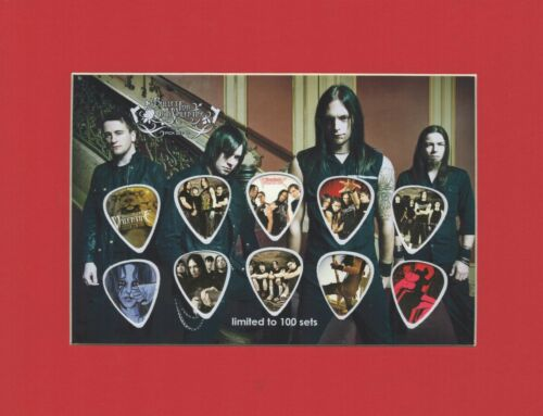 Bullet For My Valentine Matted Picture Guitar Pick Set Limited Radioactive