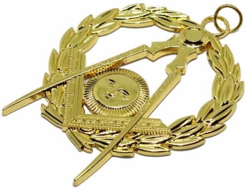 Masonic Collar Grand Senior DEACON Jewel Gold Plated Freemason Mason FREE SHIP
