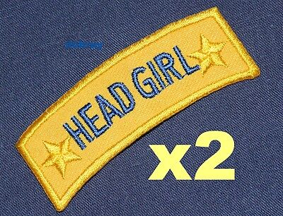 HEAD GIRL iron-on badges for fancy dress school uniform, real ex-school badges](Uniform Fancy Dress For Womens)