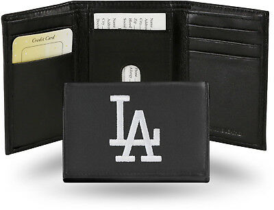 Rico Leather Embroidered Wallet - LOS ANGELES DODGERS MLB TEAM LOGO LEATHER WALLET TRIFOLD EMBROIDERED NEW RICO LA