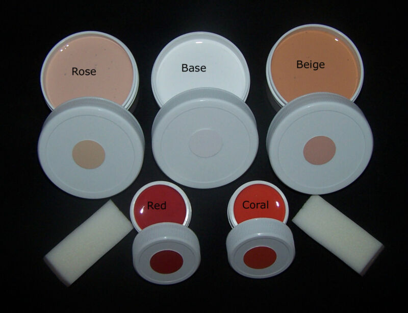 Composition Doll Repair Paint Set, Flesh and Lips, also Plastic Dolls
