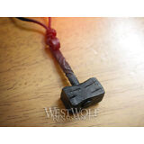 Hand-Forged Iron Thor's Hammer Pendant -- Norse/Odin/Mjolnir/Medieval/Necklace