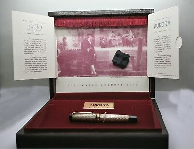 Limited Edition Italian Aurora Bicentenial Teatro Sterling Silver Fountain Pen