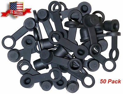 - (50 Pack) Brake Bleeder Screw Caps Grease Zerk Fitting Cap Rubber Dust Cover