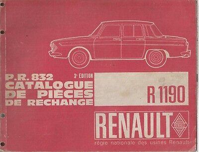 RENAULT 10 SALOON ORIGINAL 1967 FACTORY ILLUSTRATED PARTS CATALOGUE