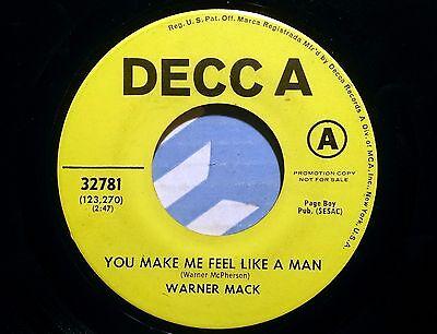 Warner Mack - You Make Me Feel Like A Man - Decca 32781 - Promo !!