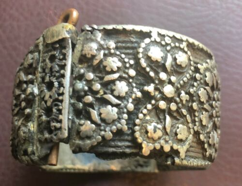Authentic Artifact >19th Century Armenian SILVER Bracelet from Turkey   VV15