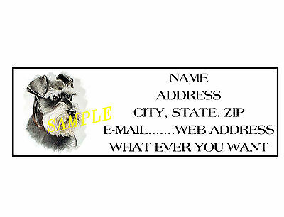 SCHNAUZER ADDRESS LABELS COOL!!! #1 - Cool Labels