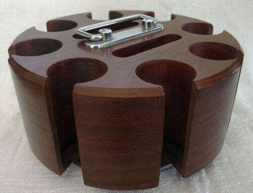 Vintage Wood Poker Chip Carousel - Drueke No. 0506
