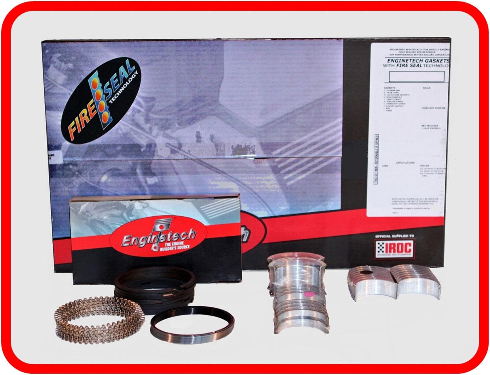 Ford OHV-6 200-3.3L Re-ring Kit 1963-1983 Main Bearings