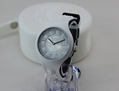 NEW AUTHENTIC VERSUS VERSACE FIRE ISLAND WHITE SILICONE WOMEN'S VSPOQ4819 WATCH