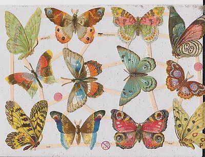 1 B.Glanzbilder Poesie Tiere Schmetterlinge wunderschön ef 7408 Glimmer Nr.171