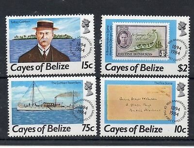 CAYES OF BELIZE 1984 POSTAL HISTORY 90th ANNIVERSARY OF FIRST STAMPS  MNH