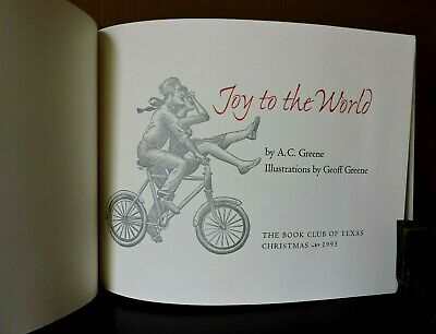BOOK CLUB OF TEXAS Christmas Story A.C. GREENE Signed ILLUSTRATED Limited Ed ()
