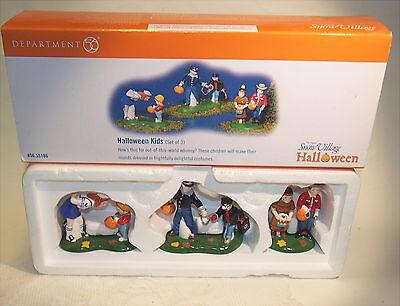 Dept 56 Retired Halloween Pieces (Dept 56 Halloween Snow Village Halloween Kids RETIRED 56.55186 3 PIECE SET)