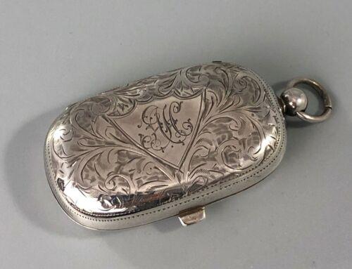 Edwardian Silver Sovereign Case WHH Birmingham 1910 DZX